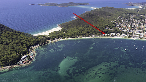 Tidemark API Leisure & Lifestyle Holiday Homes Shoal Bay Aerial View.jpg
